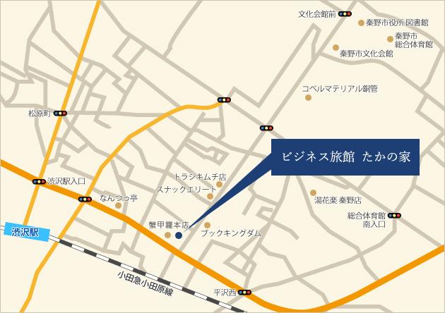 ビジネス旅館 たかの家の地図